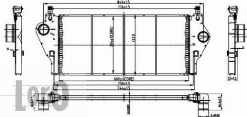 ABAKUS 042-018-0001 - Intercooler, compresor reperautotrans.ro