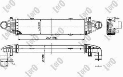 ABAKUS 054-018-0007 - Intercooler, compresor reperautotrans.ro