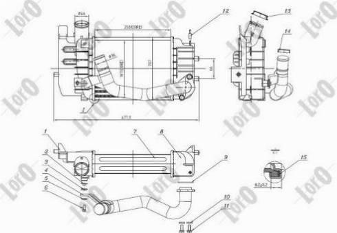 ABAKUS 051-018-0001 - Intercooler, compresor reperautotrans.ro