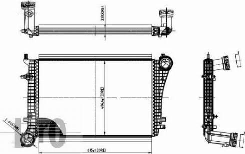 ABAKUS 053-018-0009 - Intercooler, compresor reperautotrans.ro
