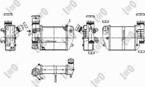 ABAKUS 003-018-0012 - Intercooler, compresor reperautotrans.ro