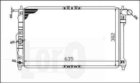 ABAKUS 011-017-0001 - Radiator, racire motor reperautotrans.ro