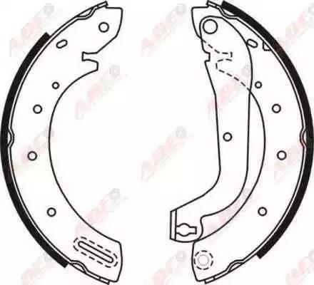ABE C01046ABE - Setul de frânare, frâne cu tambur reperautotrans.ro
