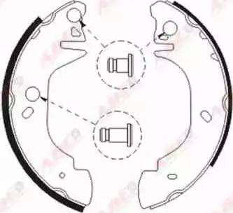 ABE C0G049ABE - Setul de frânare, frâne cu tambur reperautotrans.ro