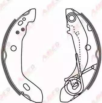 ABE C0M007ABE - Setul de frânare, frâne cu tambur reperautotrans.ro