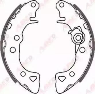 ABE C0P006ABE - Setul de frânare, frâne cu tambur reperautotrans.ro