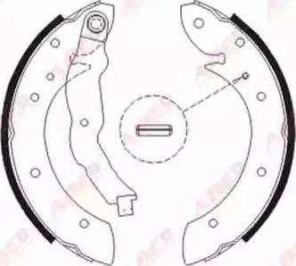ABE C0R011ABE - Setul de frânare, frâne cu tambur reperautotrans.ro