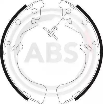 A.B.S. 9037 - Setul de frânare, frâne cu tambur reperautotrans.ro