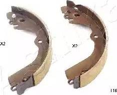 Ashika 55-01-116 - Setul de frânare, frâne cu tambur reperautotrans.ro