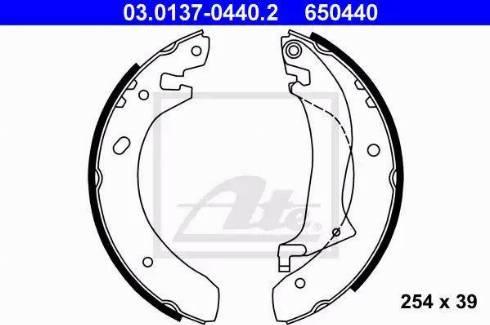 ATE 03.0137-0440.2 - Setul de frânare, frâne cu tambur reperautotrans.ro