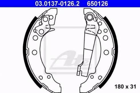 ATE 03.0137-0126.2 - Setul de frânare, frâne cu tambur reperautotrans.ro