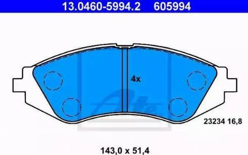 ATE 13.0460-5994.2 - Set placute frana, frana disc reperautotrans.ro