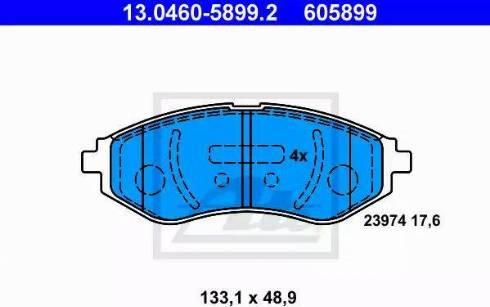 ATE 13.0460-5899.2 - Set placute frana, frana disc reperautotrans.ro