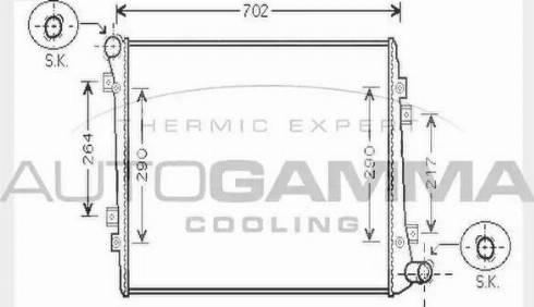 Autogamma 104748 - Radiator, racire motor reperautotrans.ro