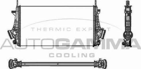 Autogamma 105338 - Intercooler, compresor reperautotrans.ro