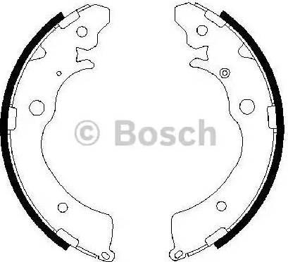 BOSCH 0 986 487 440 - Setul de frânare, frâne cu tambur reperautotrans.ro