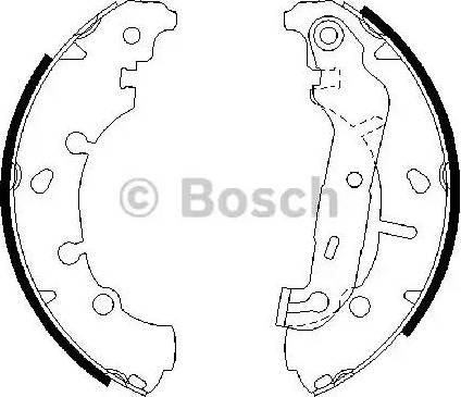 BOSCH 0 986 487 599 - Setul de frânare, frâne cu tambur reperautotrans.ro