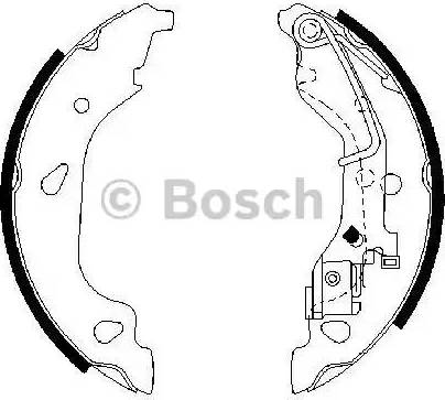 BOSCH 0 986 487 596 - Setul de franare, frane cu tambur reperautotrans.ro