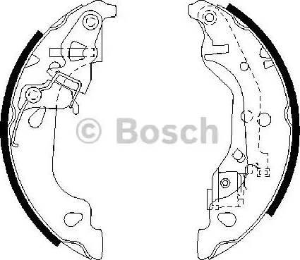 BOSCH 0 986 487 597 - Setul de frânare, frâne cu tambur reperautotrans.ro