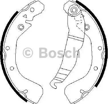 BOSCH 0 986 487 554 - Setul de franare, frane cu tambur reperautotrans.ro