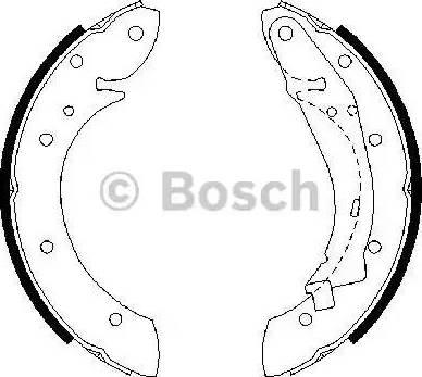 BOSCH 0 986 487 552 - Setul de frânare, frâne cu tambur reperautotrans.ro