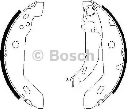 BOSCH 0 986 487 565 - Setul de frânare, frâne cu tambur reperautotrans.ro