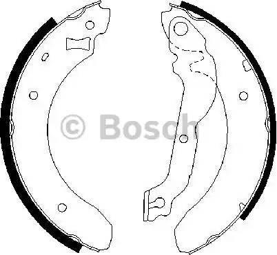 BOSCH 0 986 487 534 - Setul de frânare, frâne cu tambur reperautotrans.ro