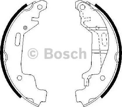 BOSCH 0 986 487 576 - Setul de frânare, frâne cu tambur reperautotrans.ro