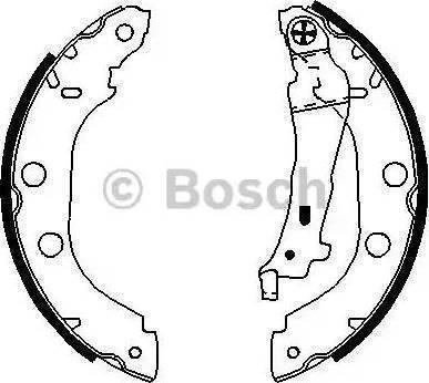 BOSCH 0 986 487 699 - Setul de frânare, frâne cu tambur reperautotrans.ro