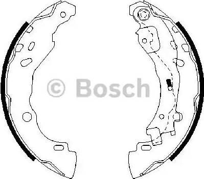 BOSCH 0 986 487 690 - Setul de franare, frane cu tambur reperautotrans.ro