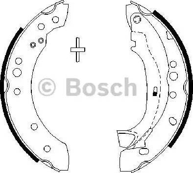 BOSCH 0 986 487 664 - Setul de frânare, frâne cu tambur reperautotrans.ro