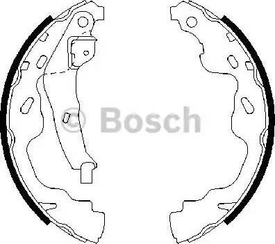 BOSCH 0 986 487 665 - Setul de frânare, frâne cu tambur reperautotrans.ro