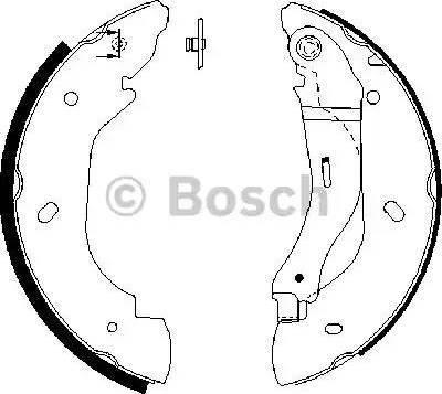 BOSCH 0 986 487 660 - Setul de franare, frane cu tambur reperautotrans.ro