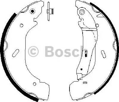 BOSCH 0 986 487 612 - Setul de frânare, frâne cu tambur reperautotrans.ro