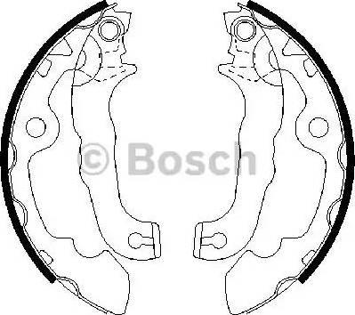 BOSCH 0 986 487 633 - Setul de franare, frane cu tambur reperautotrans.ro