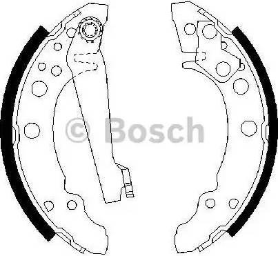 BOSCH 0 986 487 002 - Setul de frânare, frâne cu tambur reperautotrans.ro