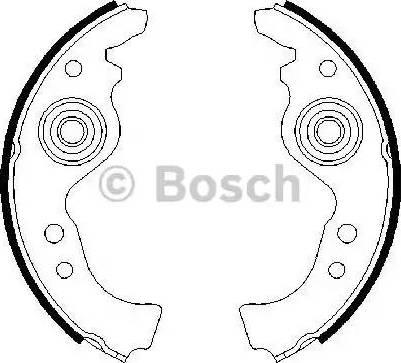 BOSCH 0 986 487 030 - Setul de franare, frane cu tambur reperautotrans.ro