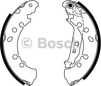 BOSCH 0 986 487 759 - Setul de frânare, frâne cu tambur reperautotrans.ro