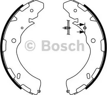 BOSCH 0 986 487 758 - Setul de frânare, frâne cu tambur reperautotrans.ro