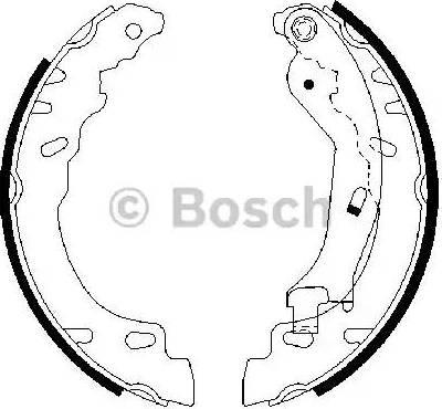 BOSCH 0 986 487 704 - Setul de frânare, frâne cu tambur reperautotrans.ro