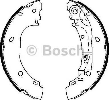 BOSCH 0 986 487 701 - Setul de franare, frane cu tambur reperautotrans.ro