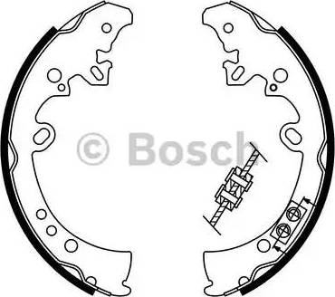 BOSCH 0 986 487 787 - Setul de frânare, frâne cu tambur reperautotrans.ro