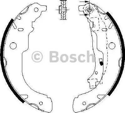 BOSCH 0 986 487 721 - Setul de franare, frane cu tambur reperautotrans.ro
