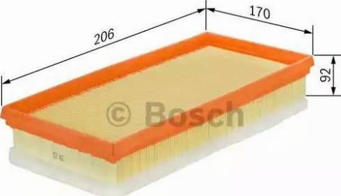 BOSCH F 026 400 010 - Filtru aer reperautotrans.ro