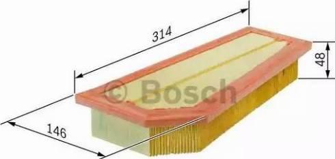 BOSCH F 026 400 134 - Filtru aer reperautotrans.ro