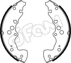 Cifam 153-405 - Setul de frânare, frâne cu tambur reperautotrans.ro