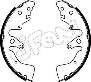 Cifam 153-407 - Setul de franare, frane cu tambur reperautotrans.ro