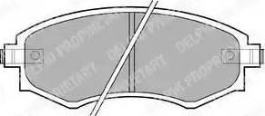 Delphi LP606 - Set placute frana, frana disc reperautotrans.ro
