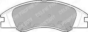 Delphi LP1932 - Set placute frana, frana disc reperautotrans.ro