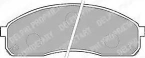 Delphi LP1671 - Set placute frana, frana disc reperautotrans.ro